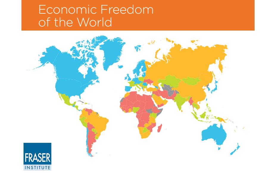 Χάρτης οικονομικά ελεύθερων χωρών