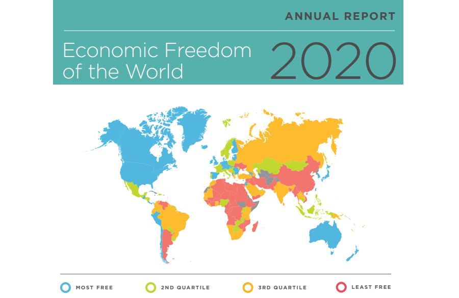 Economic Freedom of the World: Greece ranks 92nd  out of 162 jurisdictions